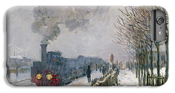 Train iPhone 7 Plus Case - Train In The Snow Or The Locomotive by Claude Monet