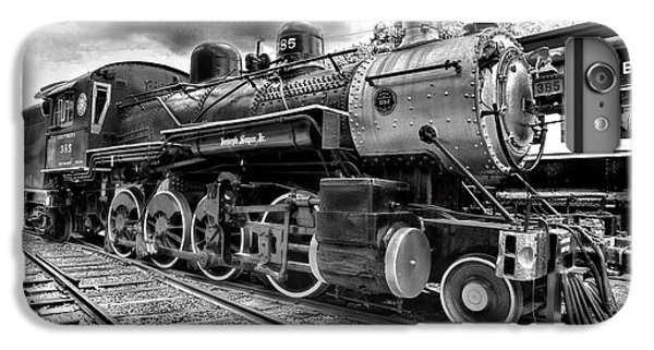 Train - Steam Engine Locomotive 385 In Black And White IPhone 7 Plus Case by Paul Ward