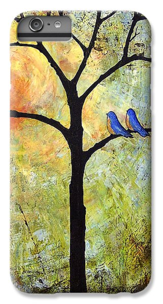 Bluebird iPhone 7 Plus Case - Tree Painting Art - Sunshine by Blenda Studio
