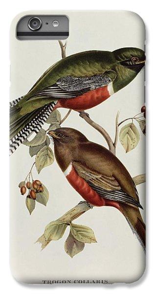 Lovebird iPhone 7 Plus Case - Trogon Collaris by John Gould