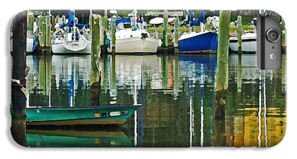 Shrimp Boats iPhone 7 Plus Case - Turquoise Workboat In The Colorful Harbor by Michael Thomas