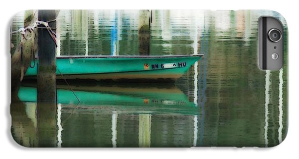 Shrimp Boats iPhone 7 Plus Case - Turquoise Workboat On The Calm Harbor by Michael Thomas