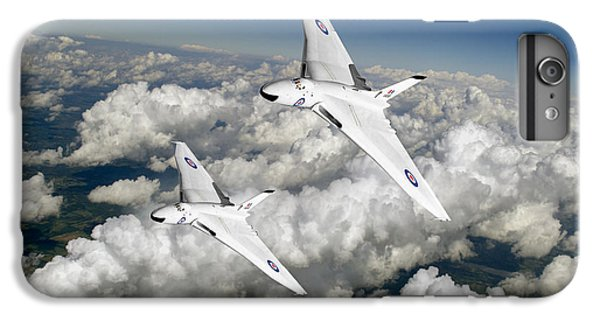 IPhone 7 Plus Case featuring the photograph Two Avro Vulcan B1 Nuclear Bombers by Gary Eason