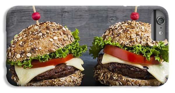 Two Gourmet Hamburgers IPhone 7 Plus Case by Elena Elisseeva