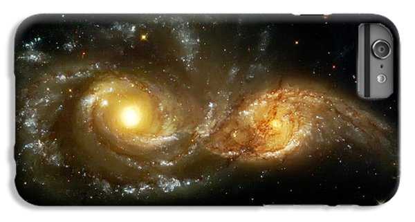 Space iPhone 7 Plus Case - Two Spiral Galaxies by Jennifer Rondinelli Reilly - Fine Art Photography