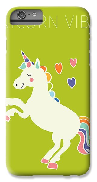Unicorn Vibes IPhone 7 Plus Case by Nicole Wilson