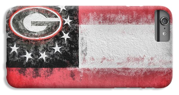 IPhone 7 Plus Case featuring the digital art University Of Georgia State Flag by JC Findley