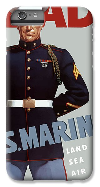 Marine iPhone 7 Plus Case - Us Marines - Ready by War Is Hell Store