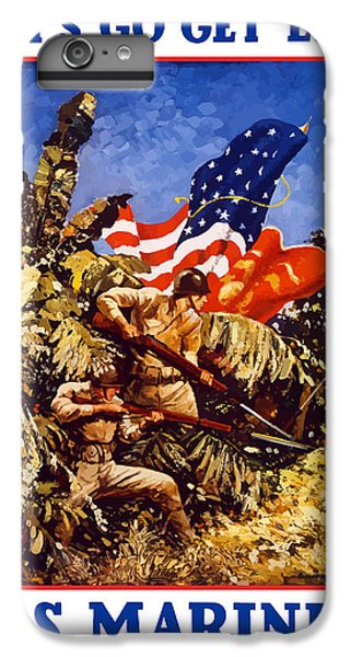 Marine iPhone 7 Plus Case - Us Marines - Ww2  by War Is Hell Store