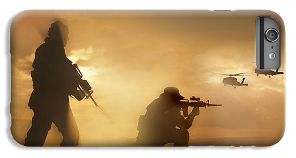 Helicopter iPhone 7 Plus Case - U.s. Special Forces Provide Security by Tom Weber