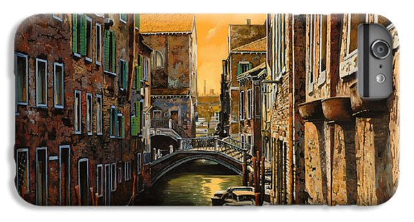 Boats iPhone 7 Plus Case - Venezia Al Tramonto by Guido Borelli