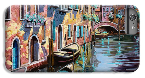 Boats iPhone 7 Plus Case - Venezia In Rosa by Guido Borelli