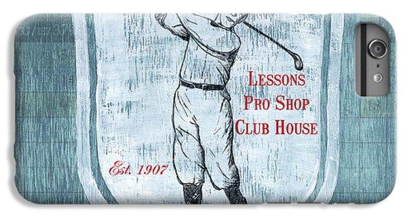 Golf iPhone 7 Plus Case - Vintage Golf Blue 1 by Debbie DeWitt