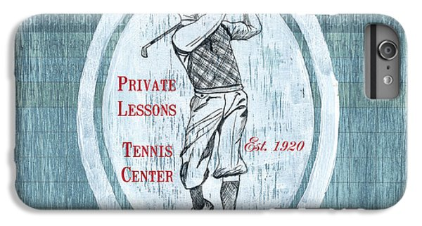Golf iPhone 7 Plus Case - Vintage Golf Blue 2 by Debbie DeWitt