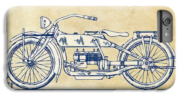 Vintage Harley-davidson Motorcycle 1919 Patent Artwork IPhone 7 Plus Case by Nikki Smith