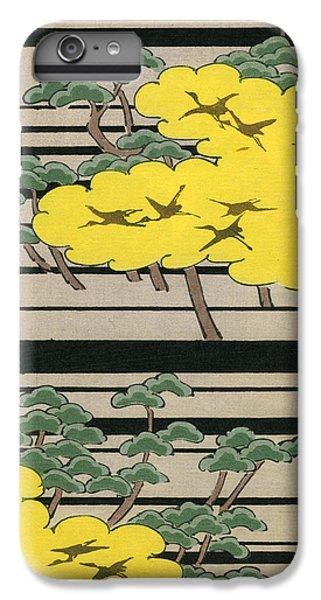 Vintage Japanese Illustration Of An Abstract Forest Landscape With Flying Cranes IPhone 7 Plus Case