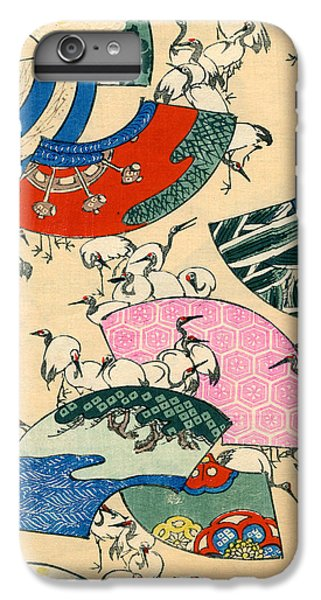 Vintage Japanese Illustration Of Fans And Cranes IPhone 7 Plus Case