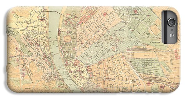 Budapest Map IPhone Plus Cases Fine Art America - Vintage budapest map