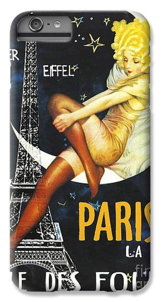 Paris iPhone 7 Plus Case - Vintage Paris Moon by Mindy Sommers