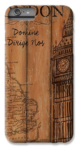 England iPhone 7 Plus Case - Vintage Travel London by Debbie DeWitt