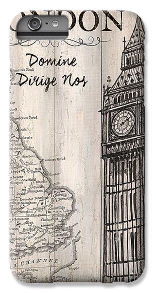 London iPhone 7 Plus Case - Vintage Travel Poster London by Debbie DeWitt