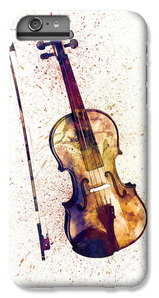 Violin iPhone 7 Plus Case - Violin Abstract Watercolor by Michael Tompsett