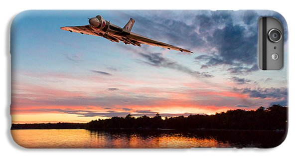 IPhone 7 Plus Case featuring the digital art Vulcan Low Over A Sunset Lake by Gary Eason