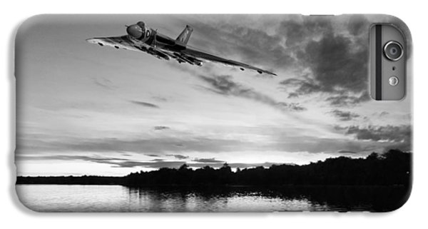 IPhone 7 Plus Case featuring the digital art Vulcan Low Over A Sunset Lake Sunset Lake Bw by Gary Eason