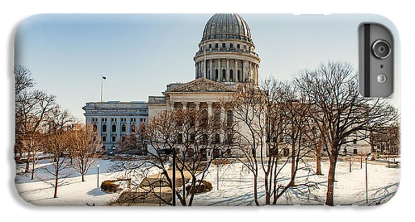 Capitol Building iPhone 7 Plus Case - Warm Winter Capitol by Todd Klassy