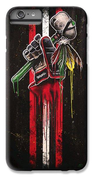 Hawk iPhone 7 Plus Case - Warrior Glove On Black by Michael Figueroa