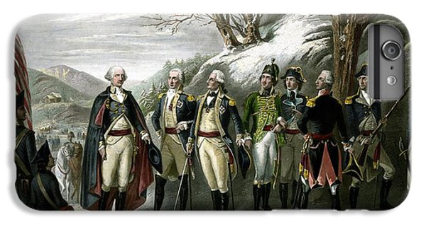 George Washington iPhone 7 Plus Case - Washington And His Generals  by War Is Hell Store