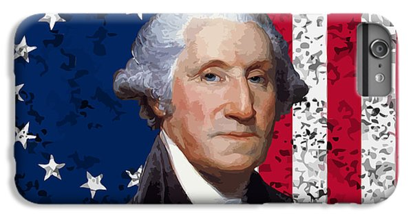 George Washington iPhone 7 Plus Case - Washington And The American Flag by War Is Hell Store