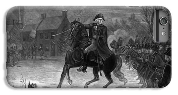 George Washington iPhone 7 Plus Case - Washington At The Battle Of Trenton by War Is Hell Store