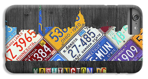 Washington Dc Skyline Recycled Vintage License Plate Art IPhone 7 Plus Case by Design Turnpike
