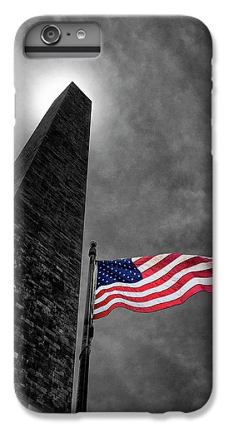 Washington Monument iPhone 7 Plus Case - Washington Monument And The Stars And Stripes by Andrew Soundarajan