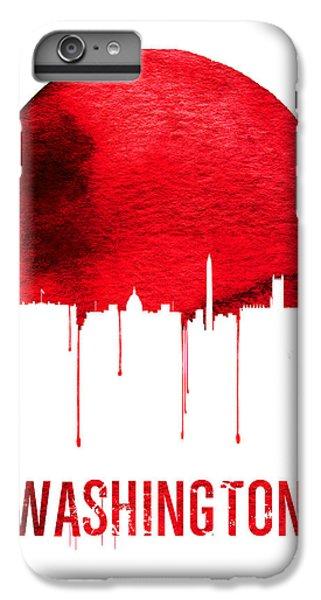 Washington D.c iPhone 7 Plus Case - Washington Skyline Red by Naxart Studio