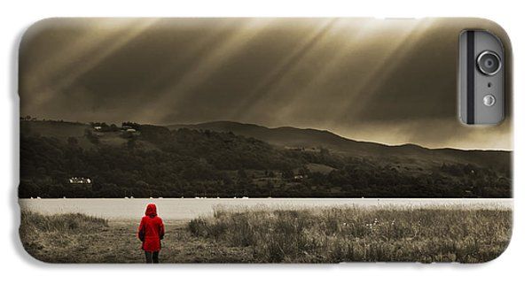 Lake iPhone 7 Plus Case - Watching In Red by Meirion Matthias