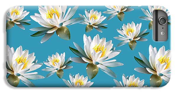 IPhone 7 Plus Case featuring the mixed media Waterlily Pattern by Christina Rollo