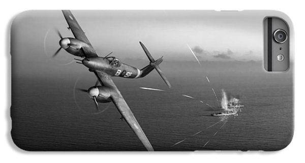 IPhone 7 Plus Case featuring the photograph Westland Whirlwind Attacking E-boats Black And White Version by Gary Eason