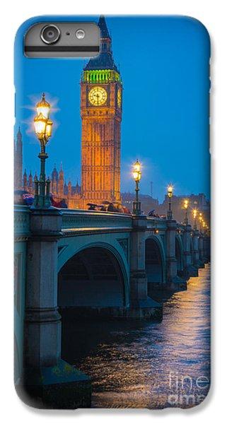 London iPhone 7 Plus Case - Westminster Bridge At Night by Inge Johnsson