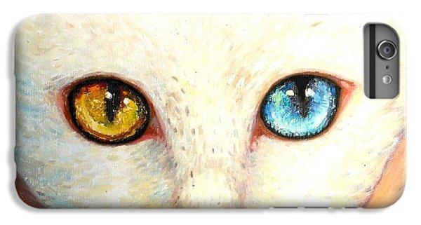 iPhone 7 Plus Case - White Cat by Shijun Munns