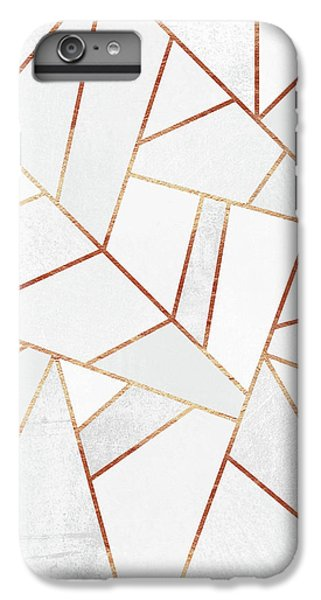 White Stone And Copper Lines IPhone 7 Plus Case