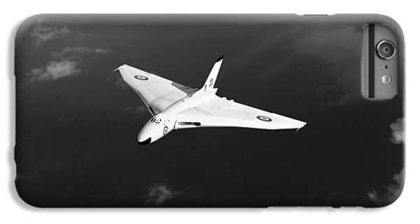 IPhone 7 Plus Case featuring the digital art White Vulcan B1 At Altitude Black And White Version by Gary Eason