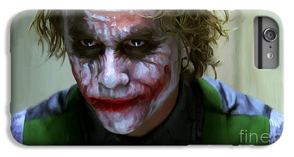 Heath Ledger iPhone 7 Plus Case - Why So Serious by Paul Tagliamonte