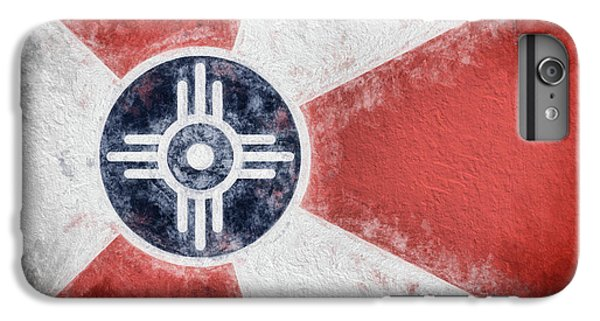 IPhone 7 Plus Case featuring the digital art Wichita City Flag by JC Findley