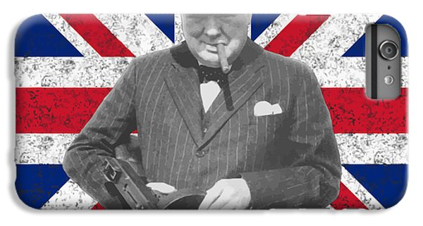 England iPhone 7 Plus Case - Winston Churchill And His Flag by War Is Hell Store