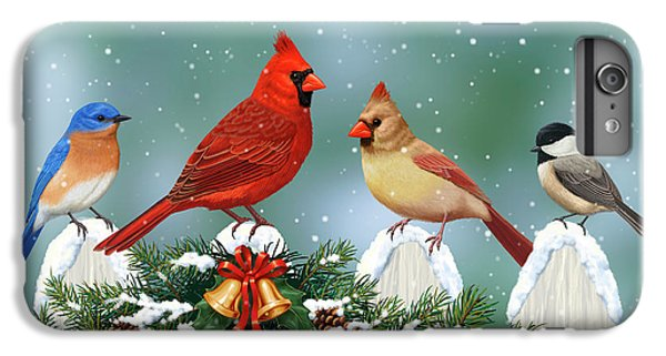 Winter Birds And Christmas Garland IPhone 7 Plus Case
