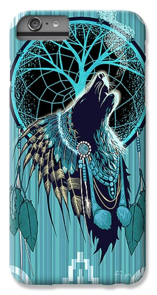 The Moon iPhone 7 Plus Case - Wolf Indian Shaman by Sassan Filsoof