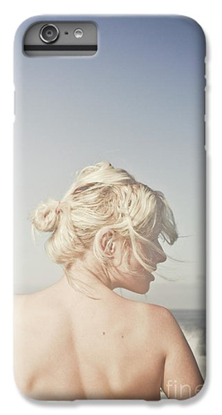 IPhone 7 Plus Case featuring the photograph Woman Relaxing On The Beach by Jorgo Photography - Wall Art Gallery