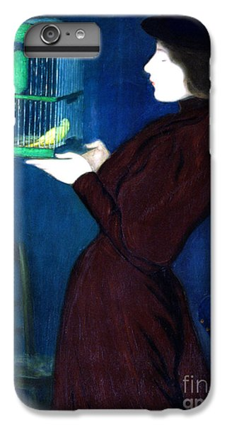 Parakeet iPhone 7 Plus Case - Woman With A Bird Cage  Detail by Jozsef Rippl-Ronai